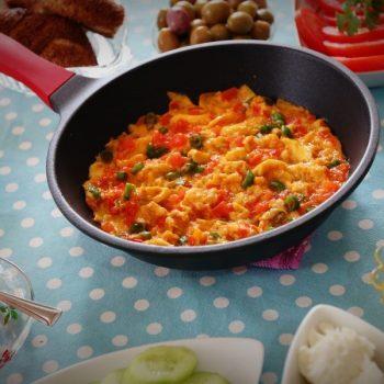 menemen or turkish scrambled eggs recipe