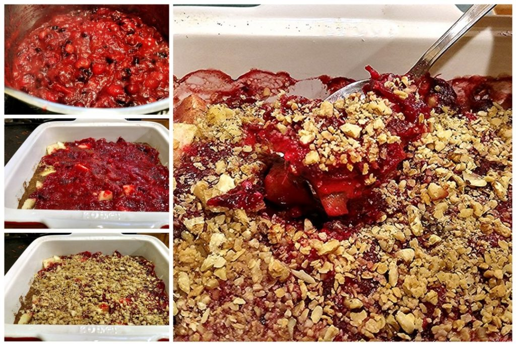 step by step guide for cranberry apple crisp recipe