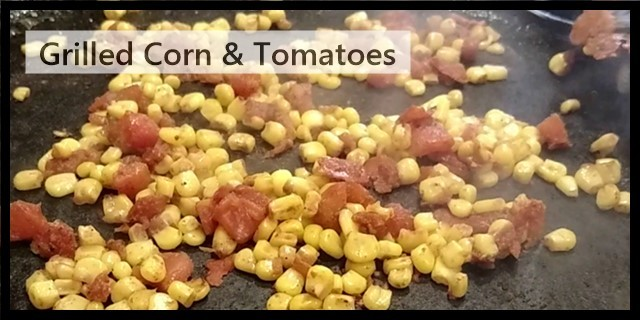 grilled corn and tomatoes for southwestern scrambled eggs recipe