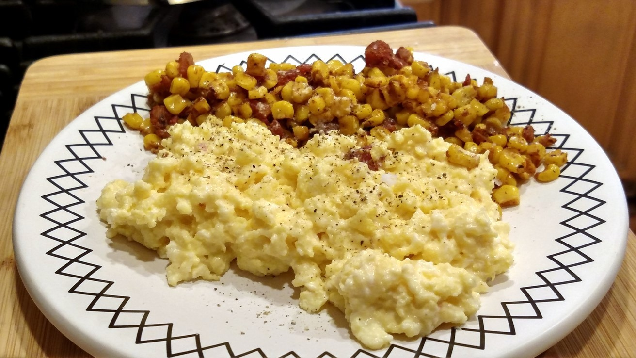 southwestern scrambled eggs recipe on a plate
