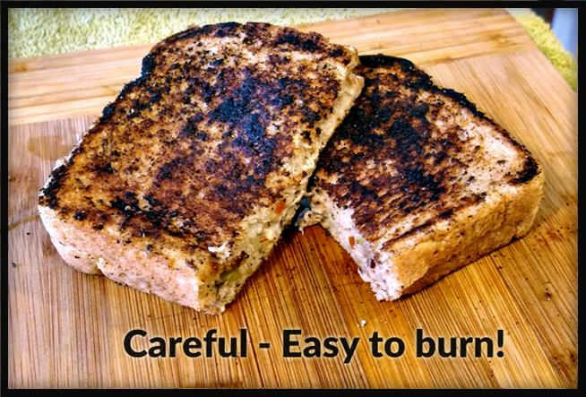 What is a tuna melt sandwich be careful not to burn it like this one