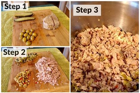 What is a tuna melt sandwich preparation instructions