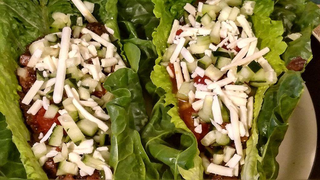 Deliciously healthy vegan tacos recipe in lettuce wraps